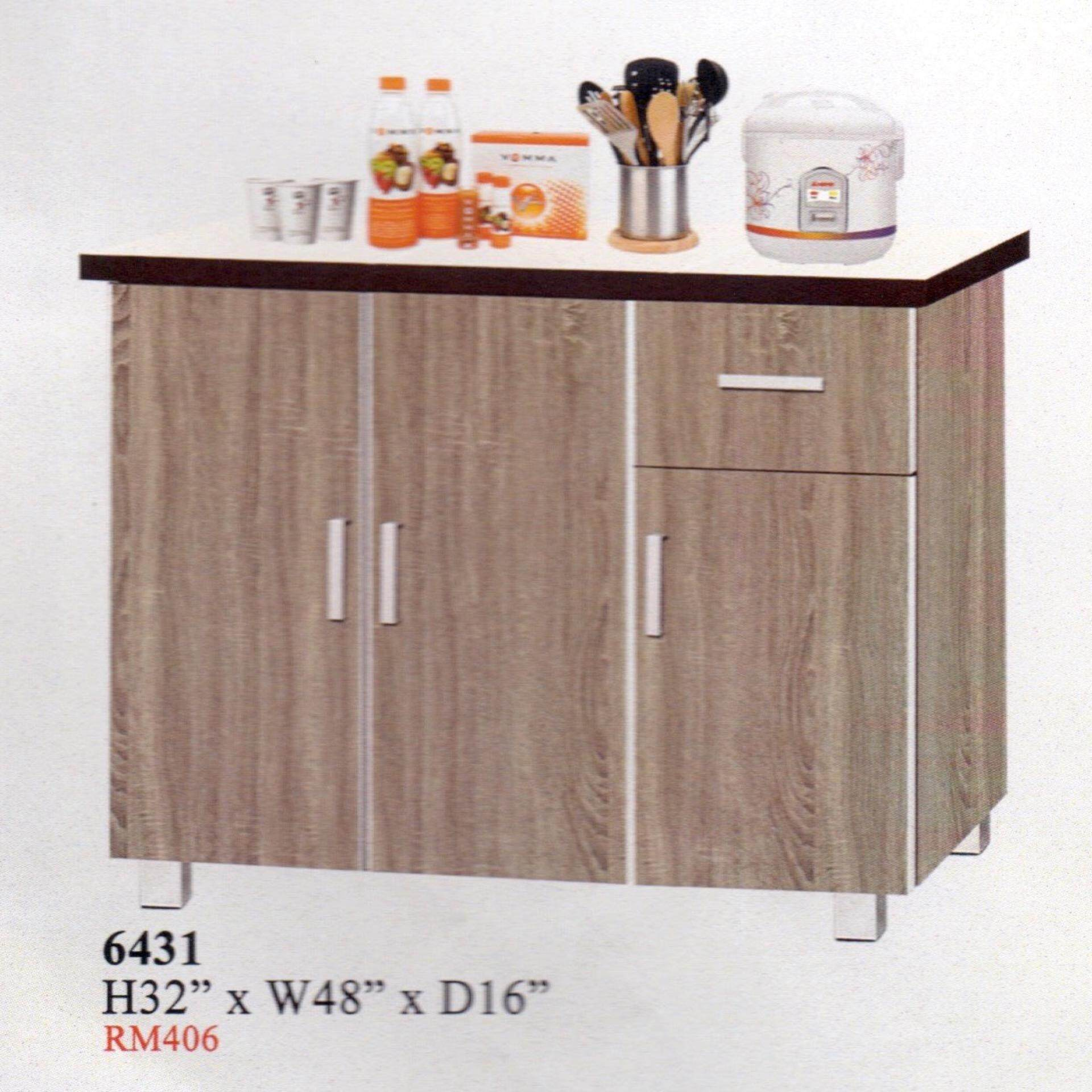 Ready-Fixed 4 Feet Kitchen Cabinet With Mosaic Top 6431 L1219MM X W406MM X 812MM