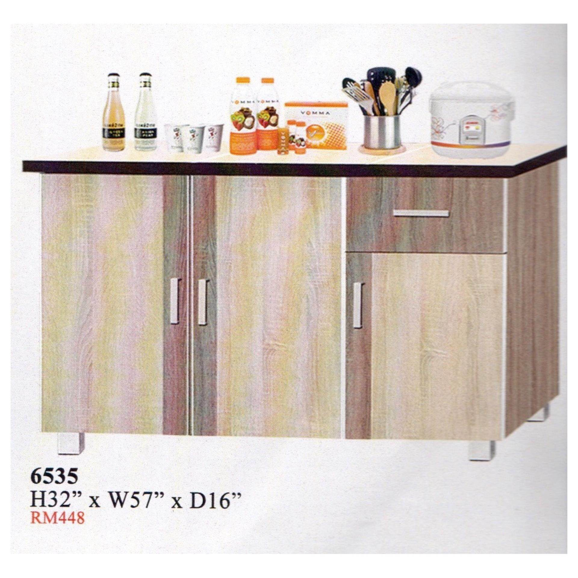Ready-Fixed 5 Feet Kitchen Cabinet With Mosaic Top 6535 L1448MM X W406MM X 813MM