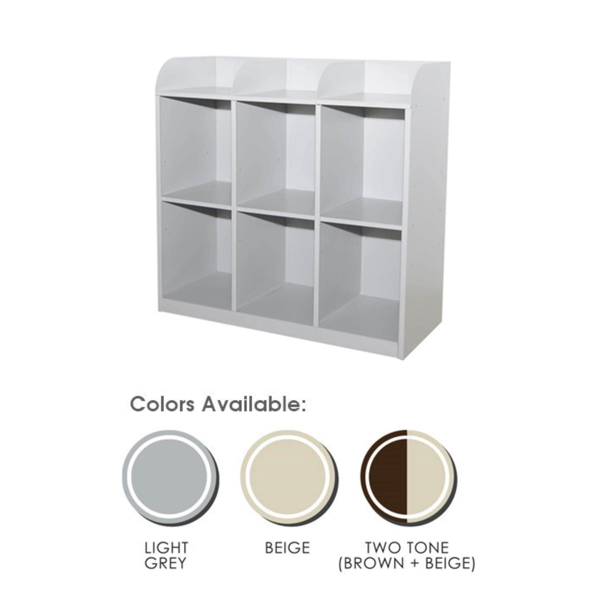 Ready-Fixed Deco 6 Pigeon Holes Side Table Documents Storage Cabinet Filing Cupboard Metal Locker L915MM X W381MM X H890MM Pre-Order 2 Week