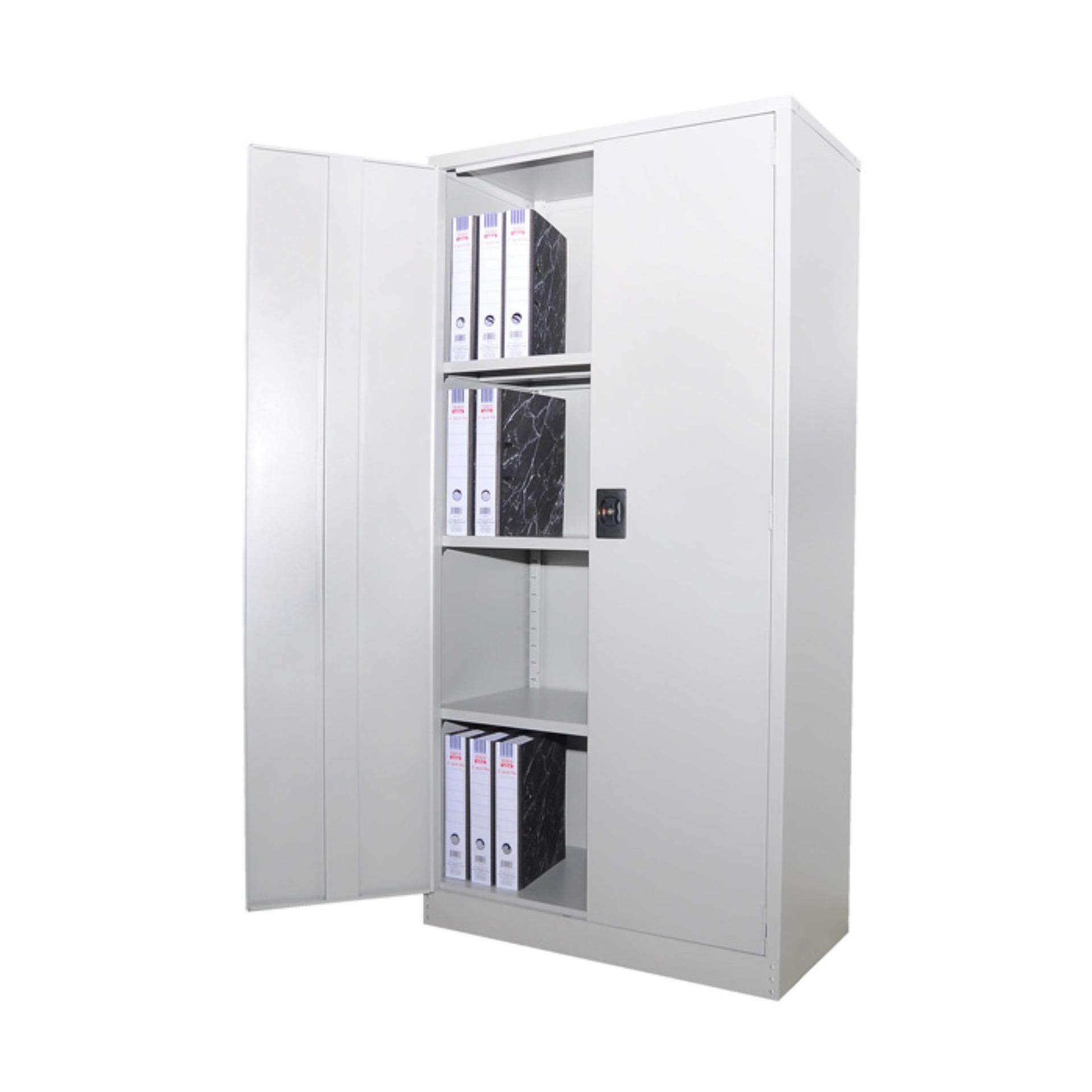 Ready-Fixed Deco Home Office Furniture Durable 2-DoorStorage Cabinet Filing Cupboard Metal Locker L915MM X W457MM X H1828MM Pre-Order 2 Week