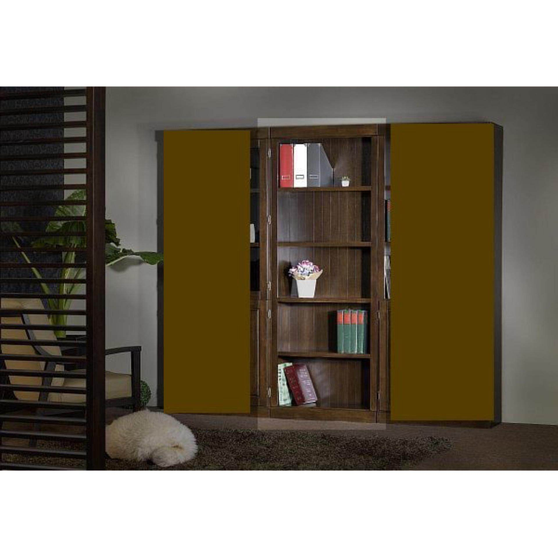 Ready-Fixed Solid Wood Book Case Shelves 1976 L810MM X D336 X H2105 (Oak Color)