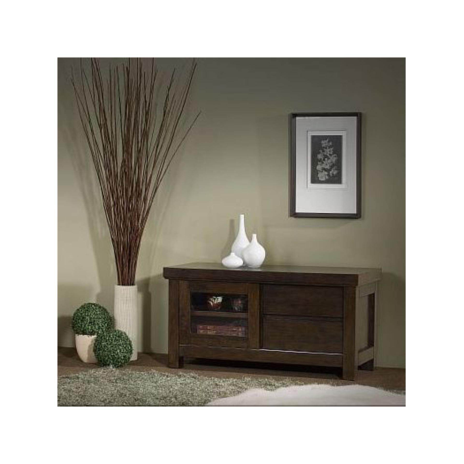 Ready-Fixed Solid Wood TV Cabinet (Oak Color) 1716 L1200 X D510 X H610 With 5 Years Warranty