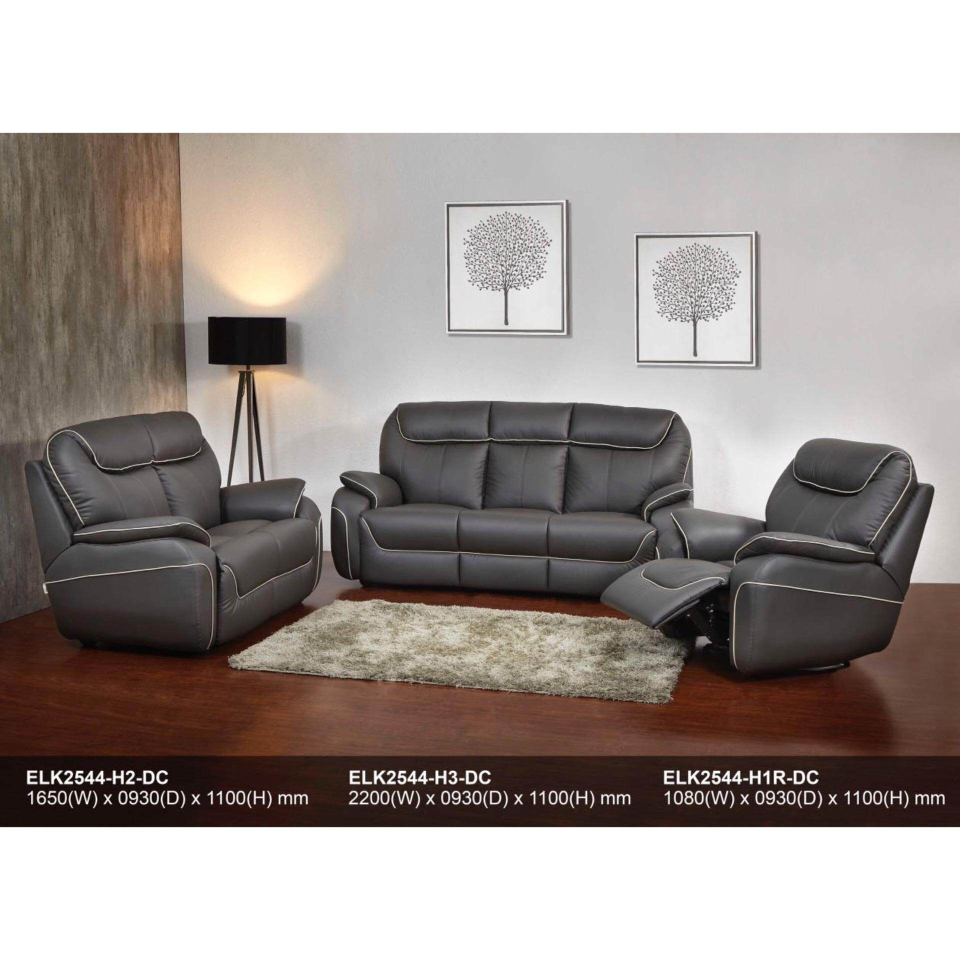Recliner Sofa 1R+2+3 Fully Leather Sofa (Dark Brown) With 5 Years Warranty