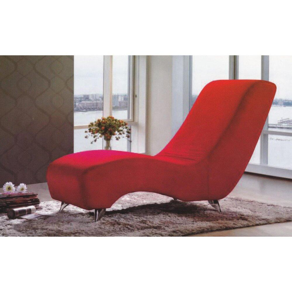 Red Cushion Chaise Lounge Relax Sofa