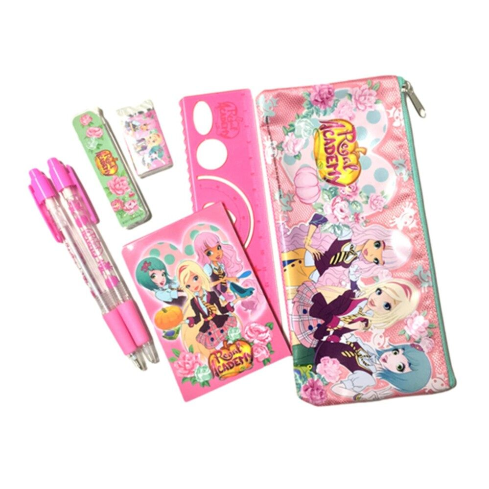 Regal Academy Stationery Set With Pencil Case - Pink Colour
