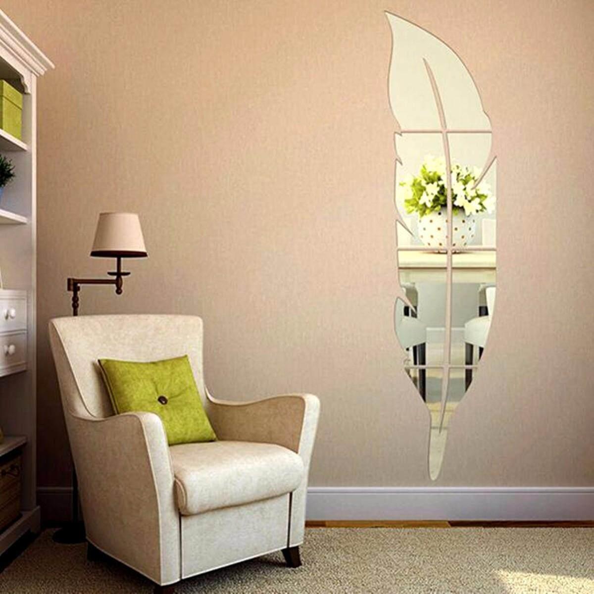 Yang Dapat Dilepas 3D Rumah Cermin Stiker Dinding Stiker Vinil Seni DIY Dekorasi .