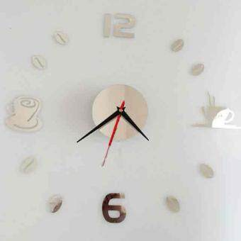 Removable Diy Acrylic 3D Mirror Wall Sticker Decorative Clock