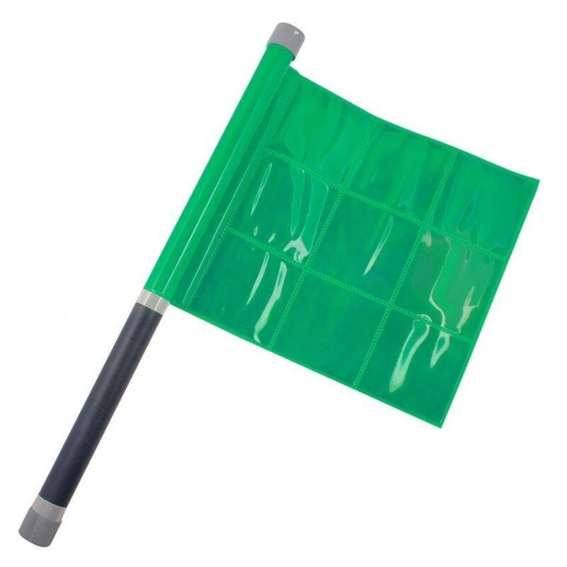 Retro reflective Flag -waterproof green