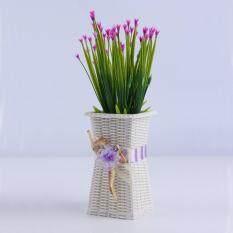 Toko Reusable Plastik Bunga Vas Rumah Dekorasiation Halus Dirancang Vas Ungu Online Di Tiongkok