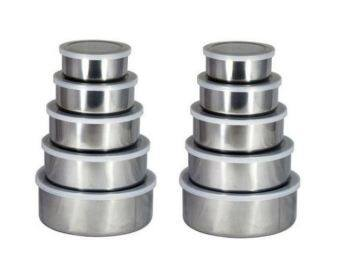 Rimtroncis 5 In 1 Stainless Steel Food Container (2 Sets)