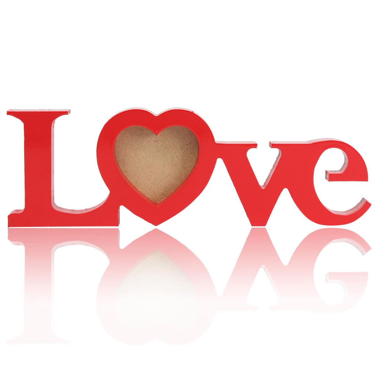 Cinta Romantis Kayu Gambar Bingkai Foto Buat Sendiri Pernikahan Hadiah Rumah Kamar Dekorasi Meja Merah-