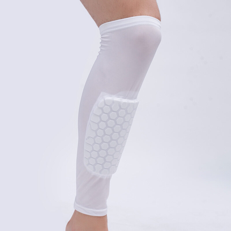 Running riding leggings sports protective gear elastic crash protection calf outdoor sporting goods (Size: XL) A11YDHJ0692