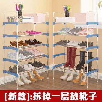 RuYiYu - Amazing Utility Shoes Rack, Stainless Steel Shoe StorageOrganizer Cabinet Tower, Heavy-Duty and EASY TO ASSEMBLE,4-10 Layer