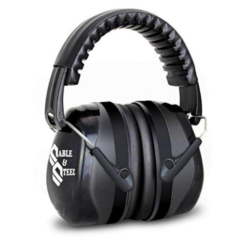 Sable & Steel Highest NRR Safety Ear Muffs – Shooters Hearing Protection Ear muffs, Adjustable Shooting Ear Muffs, For Shooting Hunting, Outdoor Sports, fits adults to children. (Black)