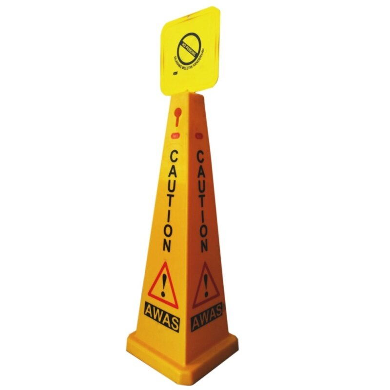 Buy Safety Cone Sign, iMEC SC91 - Cleaning in Progress, 91cm Height Malaysia