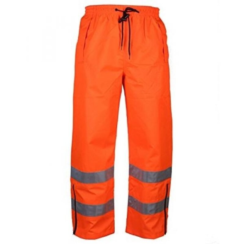 Safety Depot Orange Reflective Class E Safety Draw String Pants Water Resistant High Visibility and Light Weight 738c-3