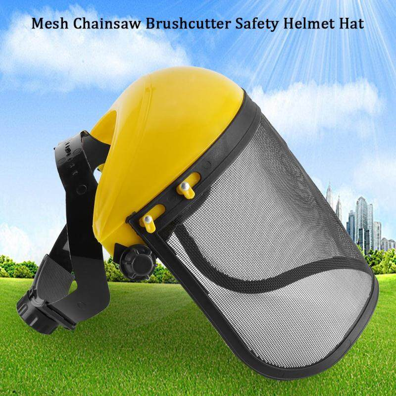Buy Safety Helmet Hat with Full Face Mesh Visor for Logging Brushcutter Forestry Protection Malaysia