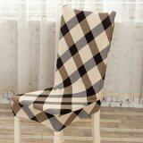 SAGE Dining Room Decoration Chair Cover Stretch Chair Slipcover Protectors - Checker