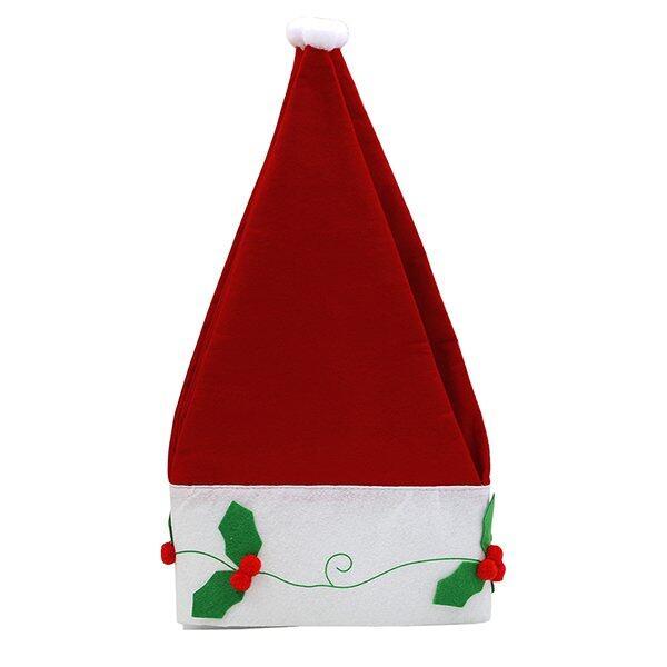 Sanwood Hari Natal Santa Topi Tirai Hiasan Jendela Valance Dekorasi-Internasional