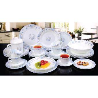 Satinni 33 pcs Nigella Opal Glass Dinner Set SM 02-241-33