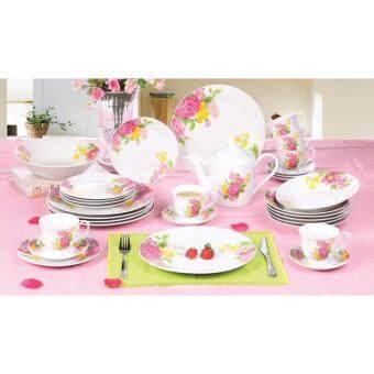 Satinni 33 pcs Velvet Rose Fine Porcelain Dinner Set SM 23-A019-33