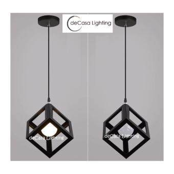 Harga Scandinavian Loft Lamps Lighting home led steel deco dinner lightsspot art room deco kitchen id design - Cube Black