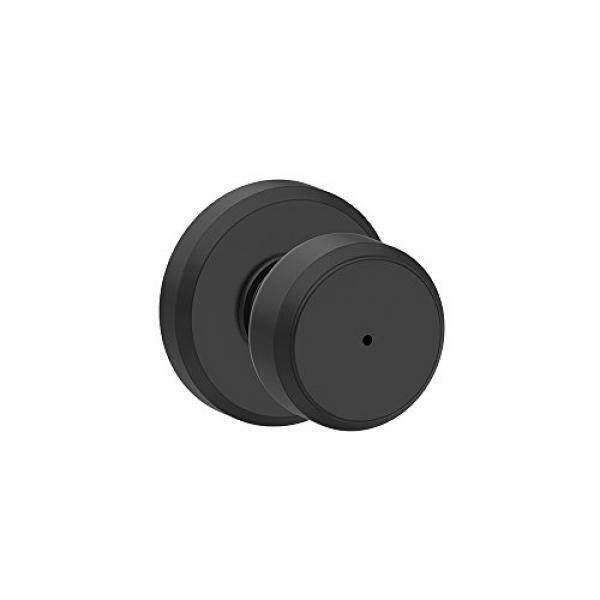 Schlage F40 BWE 622 GSN Greyson Collection Bowery Privacy Lock Knob, Matte Black - intl