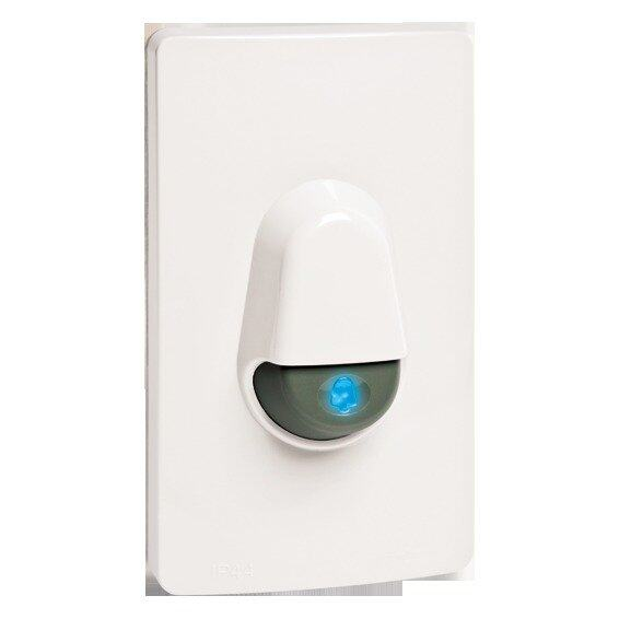 SCHNEIDER Kavacha Weatherproof Door Bell Switch (White) | Lazada Malaysia
