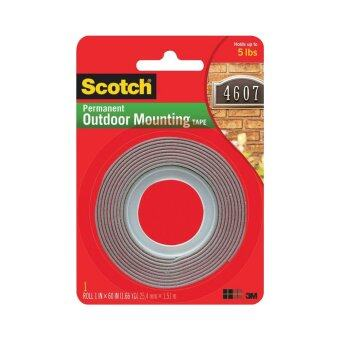 Scotch Outdoor Mounting Tape 4011, 1 in x 60 in x .045 in (25.4 mm x 1.51 m)