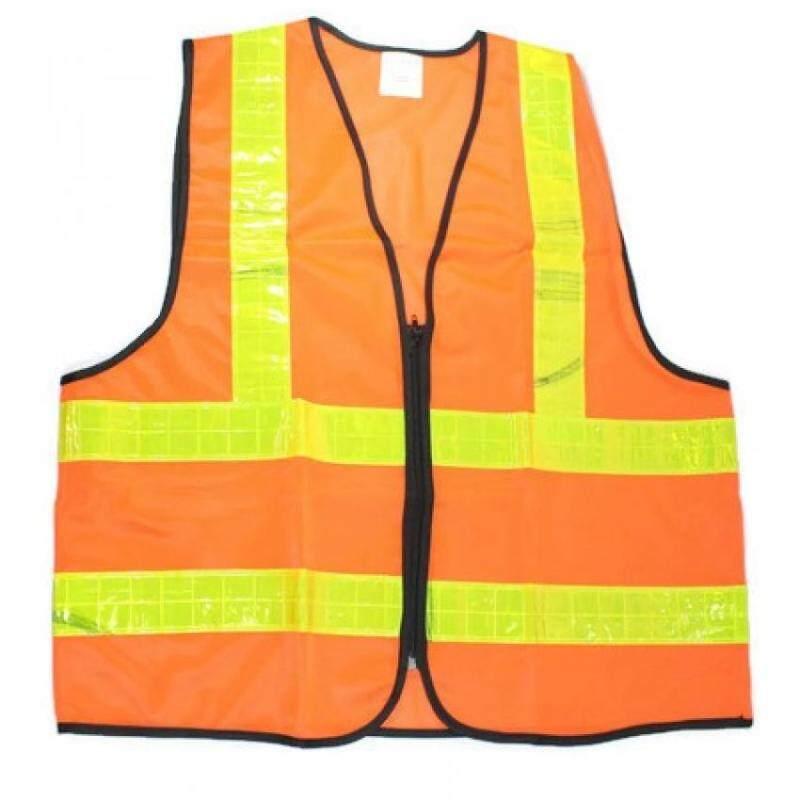 SDO Heavy Duty Reflective Vest - Xl - For Outdoor Activities, Walking, Training (ORANGE)