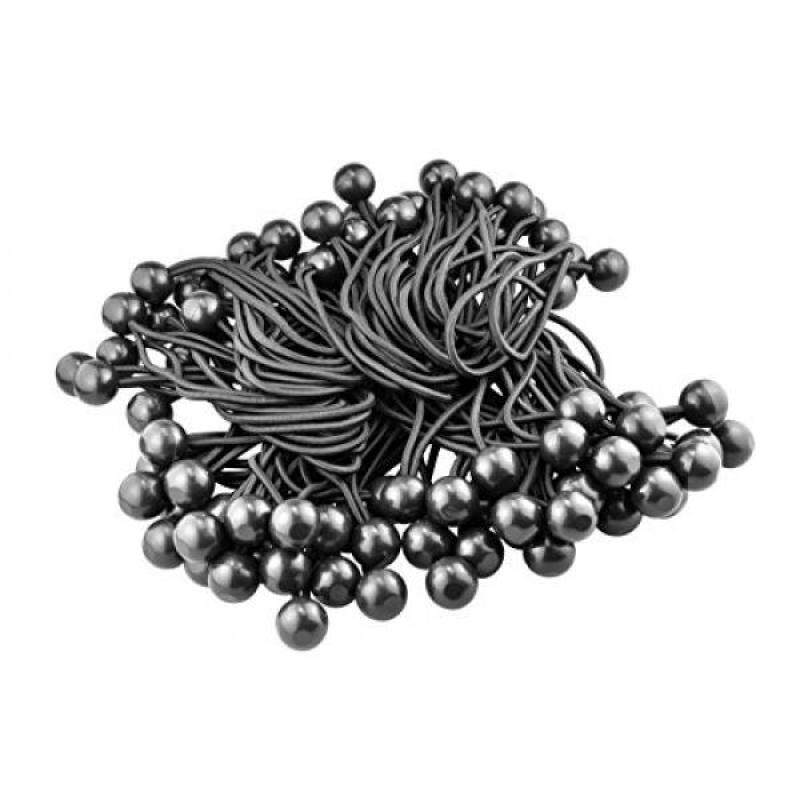 "Buy SE BC6B-100 6"" Bungee Stretch Cord with Ball (100 Pack), Black Malaysia"