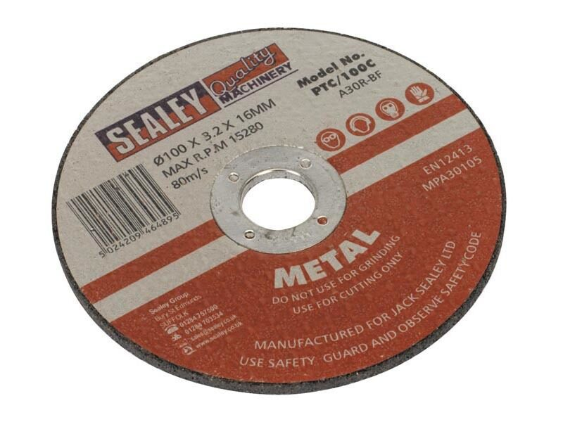 Sealey Cutting Disc Dia 100mm x 3mm 16mm Bore