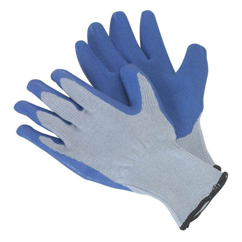 Sealey Latex Knitted Wrist Glove-Pair