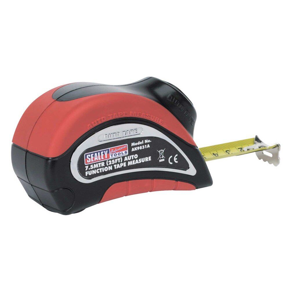 (Clearance) Sealey Measuring Tape 7.5mtr(25ft) Auto Function Metric/Imperial [Showroom Unit]