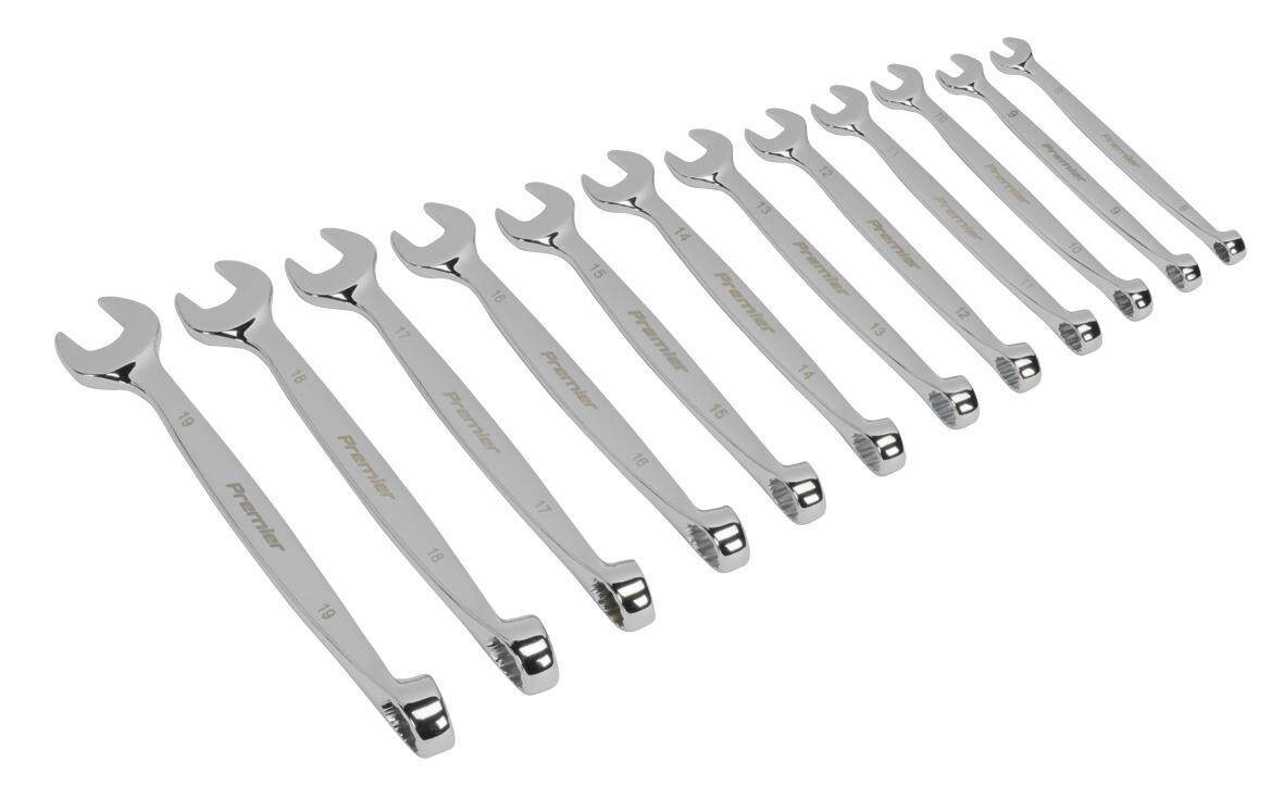 Sealey Offset Combination Spanner Set 12pc Metric