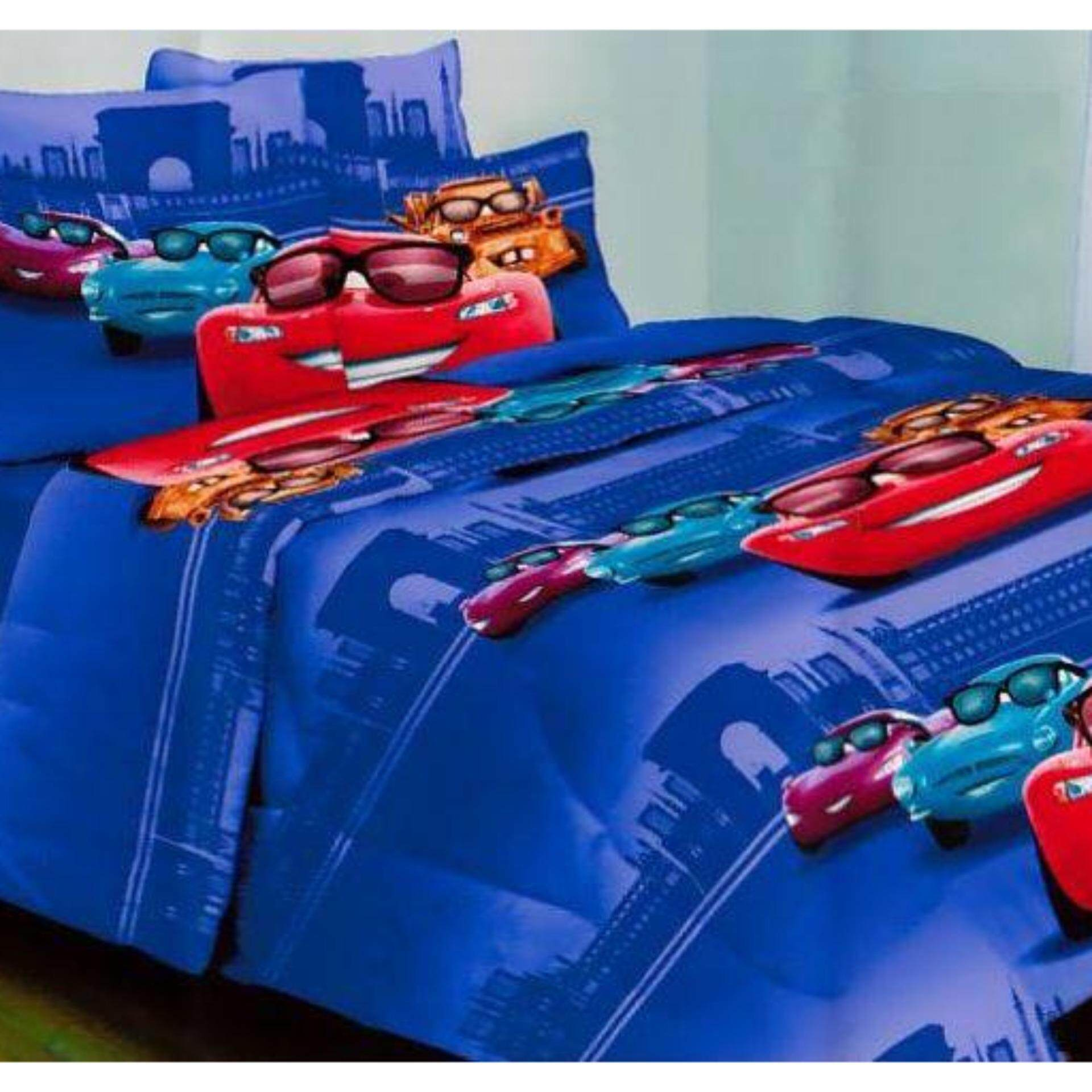 Set King Bedsheet & Comforter - CARS SPECTACLES