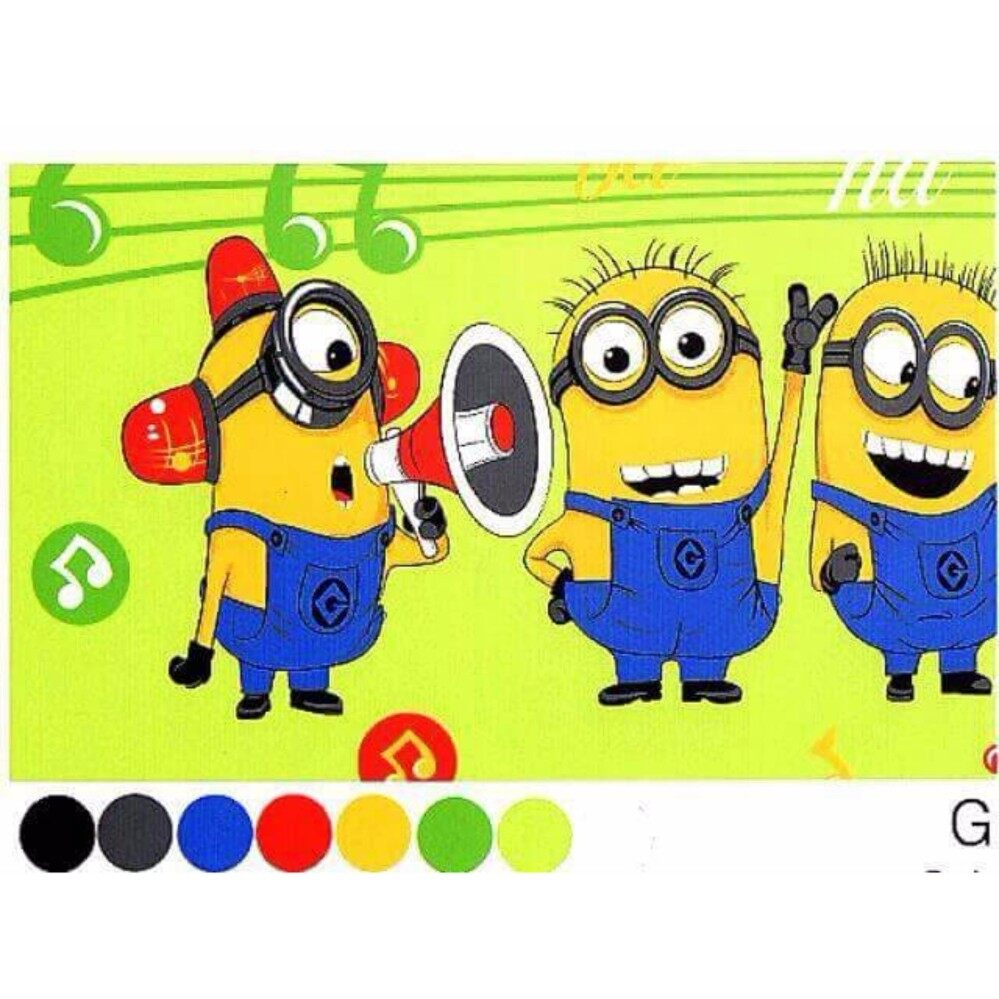Set King Bedsheet & Comforter - MINIONS MUSIC