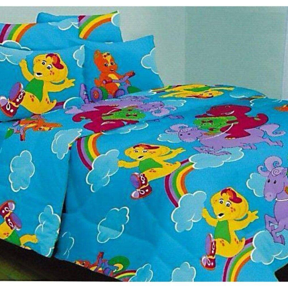 Set Super Single Bedsheet - BARNEY AND FRIENDS