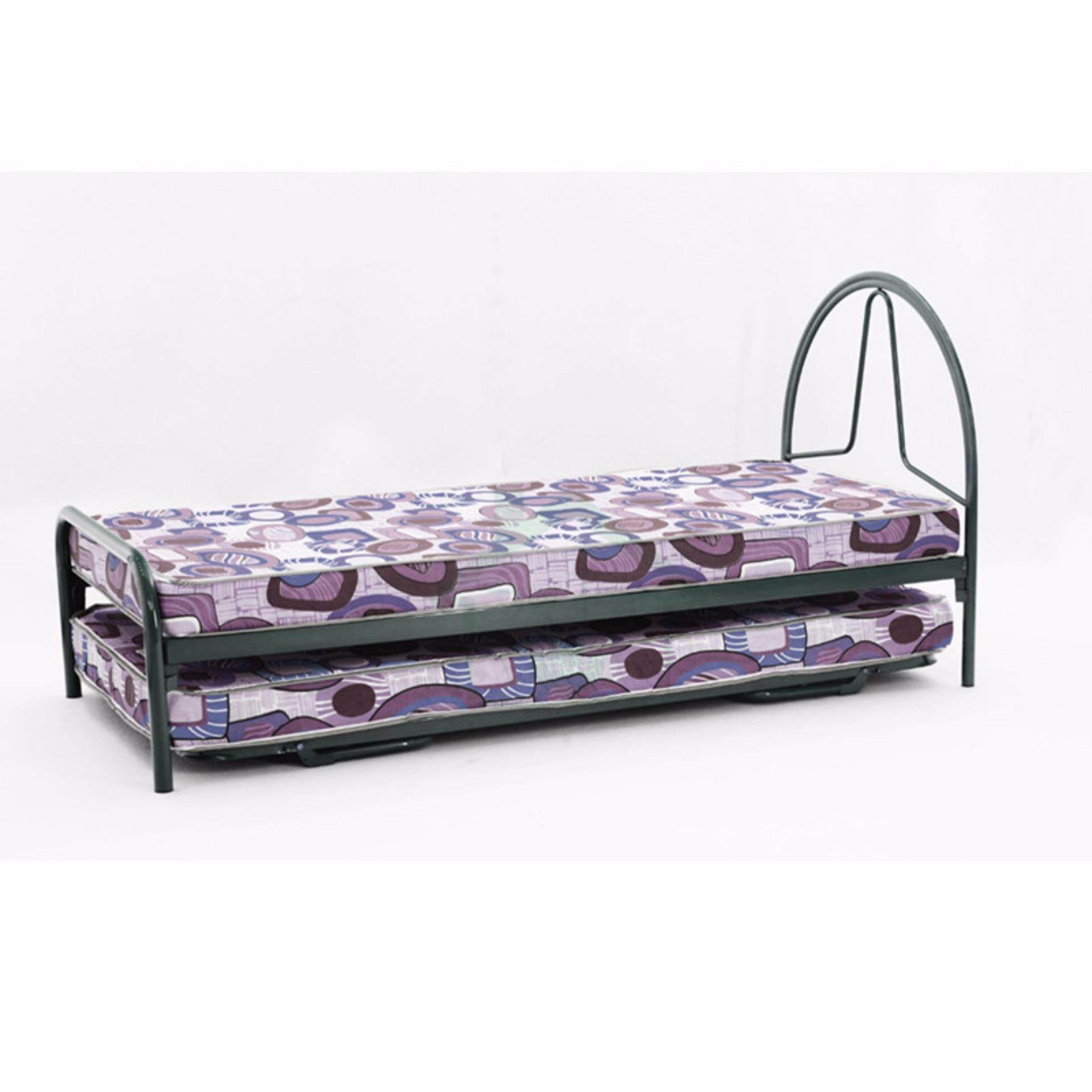SG TAN 3V Single Metal Bed Frame Modern Design