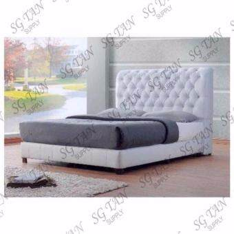 SG TAN DELUXE KING SIZE BED (WHITE) - 536
