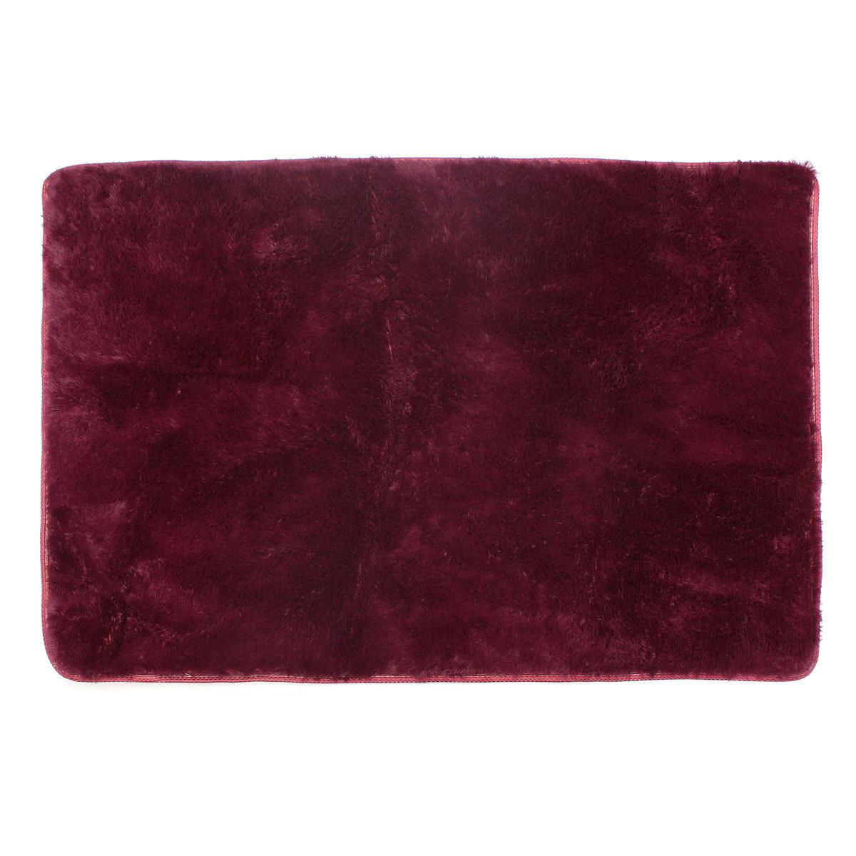 ... Shaggy Anti-skid Carpets Rugs Floor Mat/Cover 80*120cm Claret-Red ...