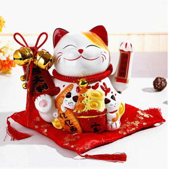 Harga Shake hand lucky ceramic electric opening Shop Gift Lucky Cat