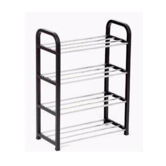 Shoe Rack ABS Plastic - Black Color