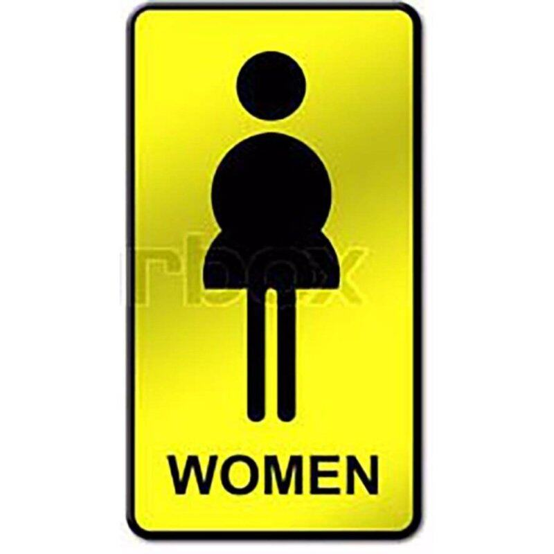 Sign Board Toilet Woman (10Pcs Per Pack)
