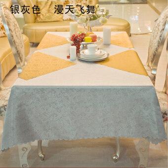 Silver Coffee Table Cloth Tablecloth Fabric Rectangular Diningtable  Tablecloth Restaurant Hotel Tablecloth Fabric Tablecloth
