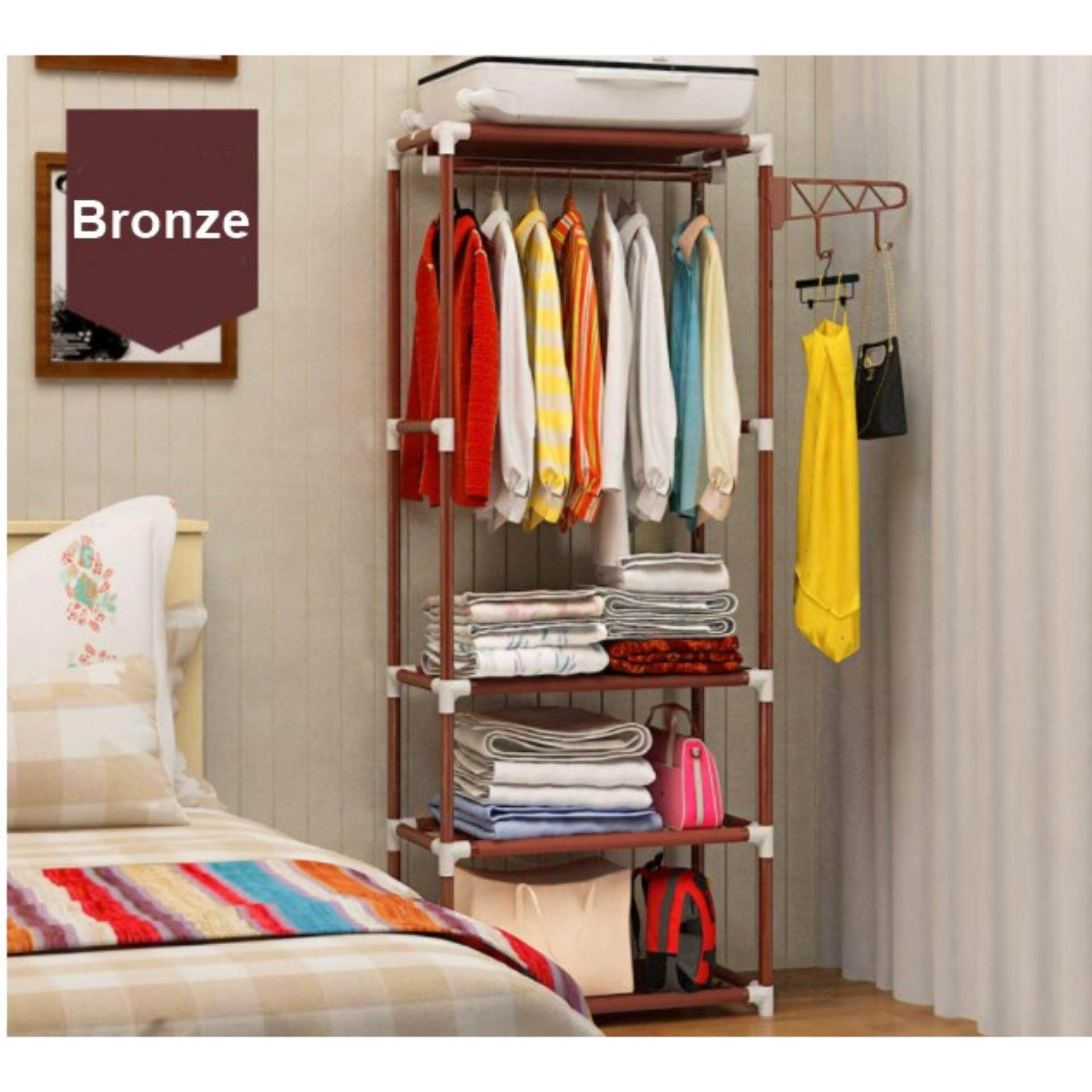 Multi function Simple Wardrobe Clothes Organizer & Storage Rack / Open Closet