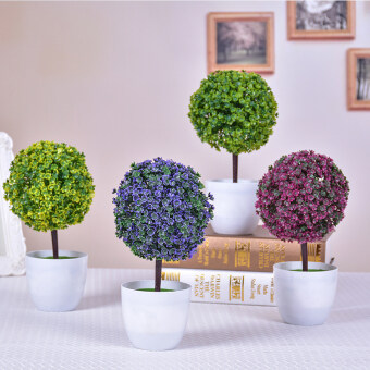 Simulation Flower Plant small potted artificial flowers trees grassball bonsai home decorations living room desktop floral smallornaments - 2