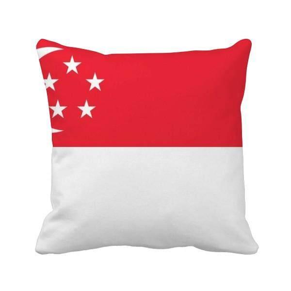 Singapura Nasional Bendera Asia Negara Bantal Bantal Sarung Bantal Sofa Rumah Dekorasi Hadiah-Internasional