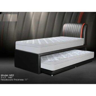 Single divan bed with pull out 03 and mattress lazada for Single divan bed without mattress