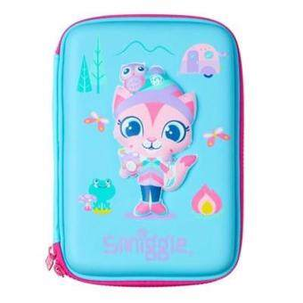 Smiggle Hardtop Pencil Case - Blue Cat